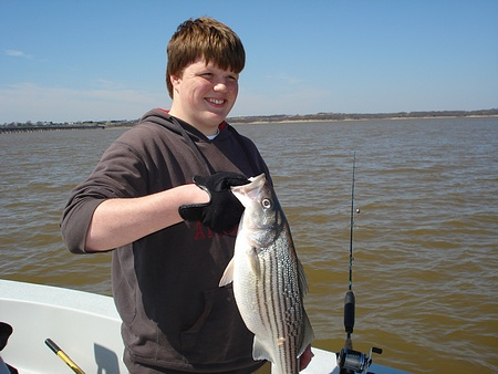 Nice male Striper on last day of winter